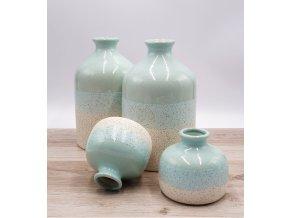 Keramická váza, minty