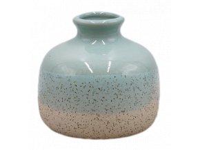 keramická váza, minty baňka