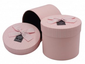 Dárková krabička s mašlí, růžová