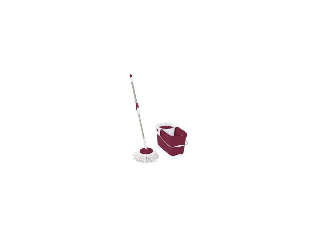 Set CLEAN TWIST Mop rubinrot