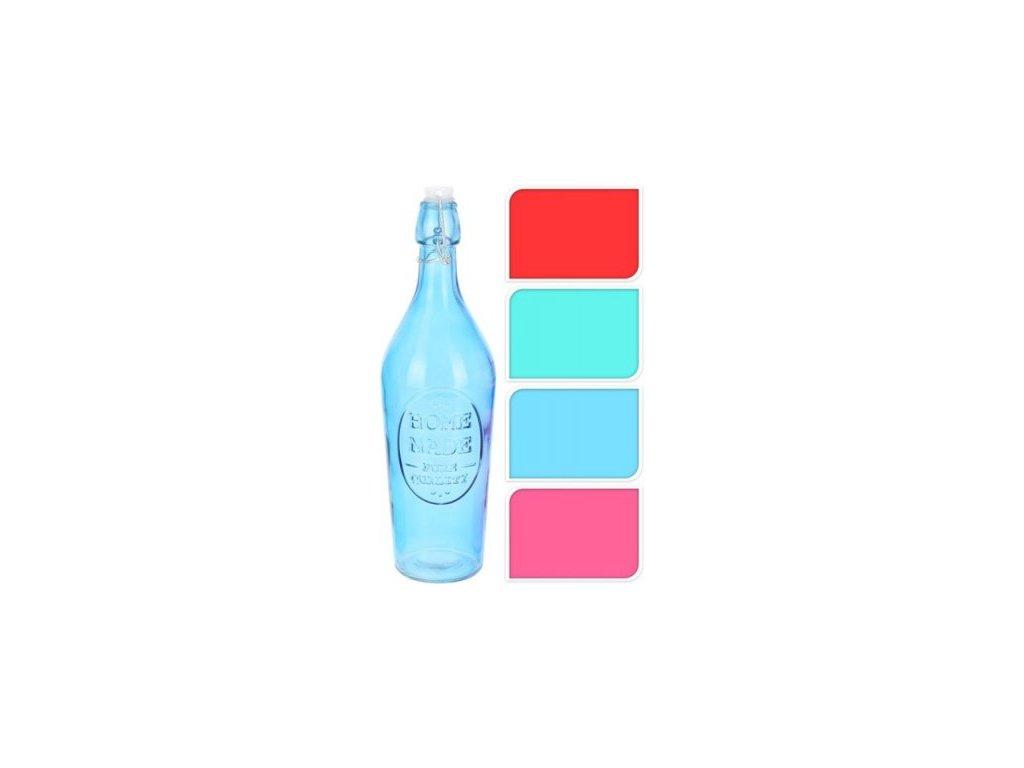 Láhev 1,0l kónická, patent. uzávěr - sklo