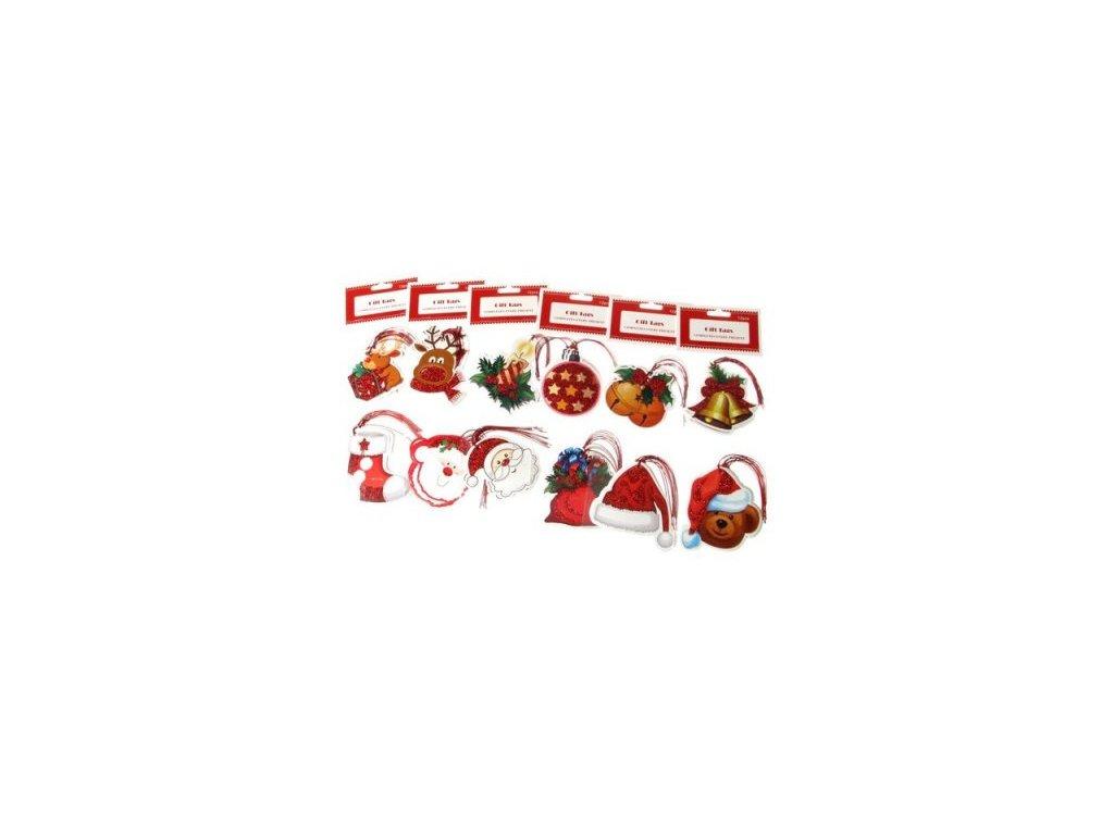 Jmenovky-visačky na dárky 12ks-10x10cm