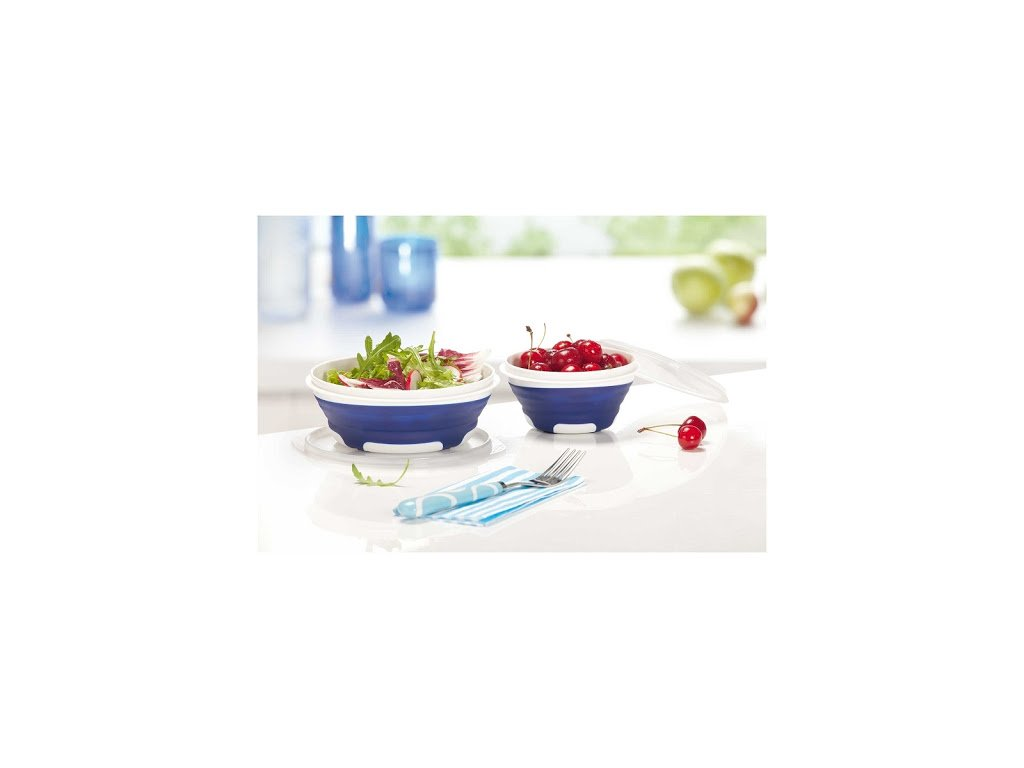 Dózy Leifheit 31228 Fresh and Slim Starterset, 0,3l + 0,6l, modrá
