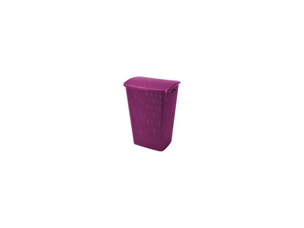 Curver CURVER RATTAN Y STYLE koš na prádlo 55 l lila 00713-939