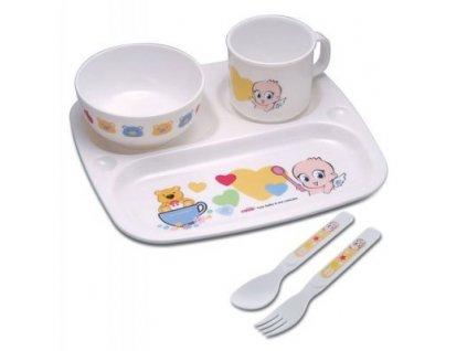 Souprava 5-dílná jídelní dětská - melamin