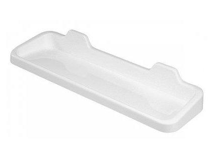 Police koup.1p.rovná 60x12cm bílá-plast