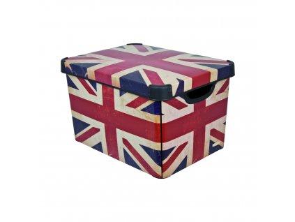 Curver L BRITISH FLAG Dekorativní úložný box 04711-D99