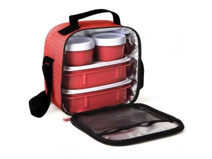 PLASTICOS TA-TAY Set termo tašky a 4 plastových dóz - pink