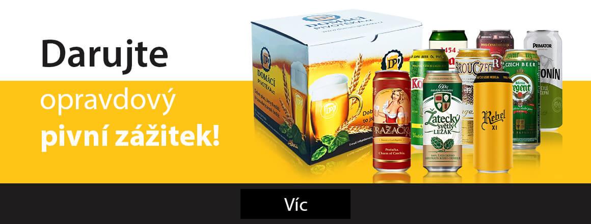 Darujte pivní potěšení v plechu!