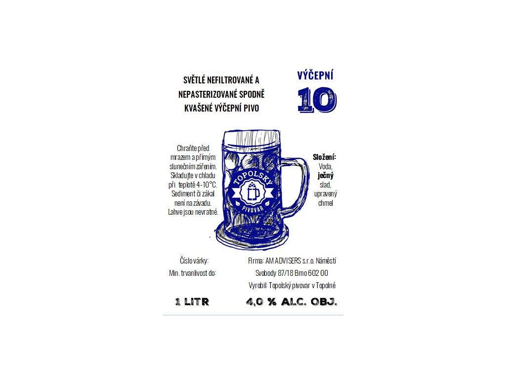 10 vycepni 1L pet etiketa