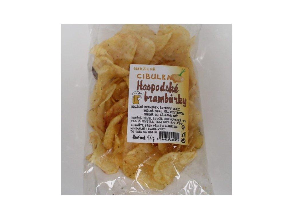 Hospodské brambůrky smažená cibulka - 100g