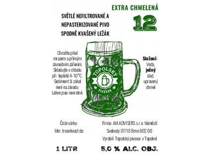 12 extra chmelena 1L pet etiketa