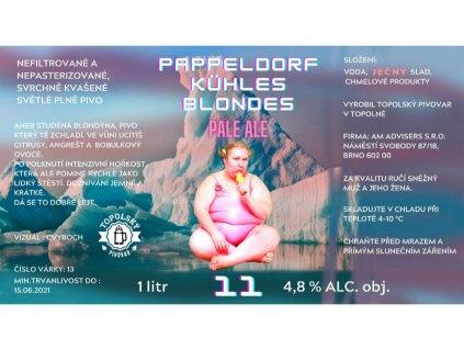 Pappeldorf Kuhles Blondes 1litr PET