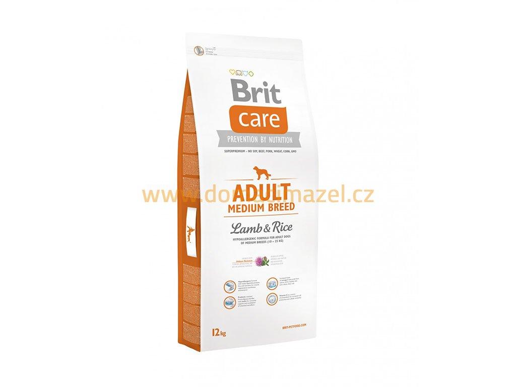 brit care adult medium breed lamb rice 12 kg front domaci mazel