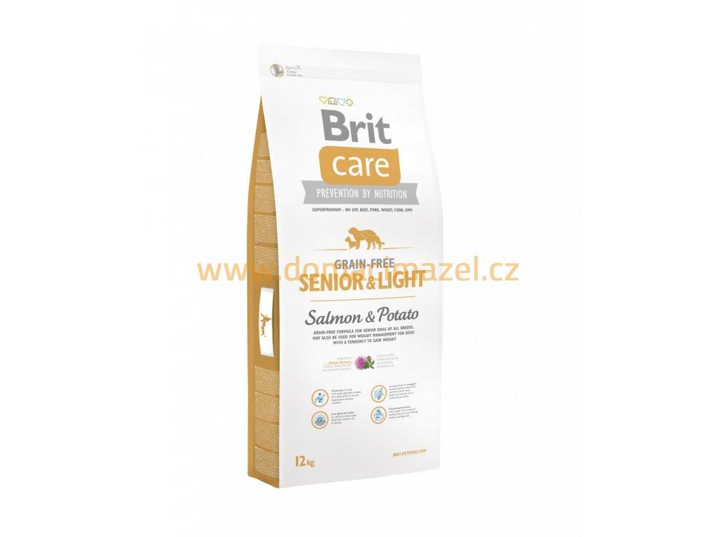 Brit Care Grain-free Senior&Light Losos & Brambor – 12 kg