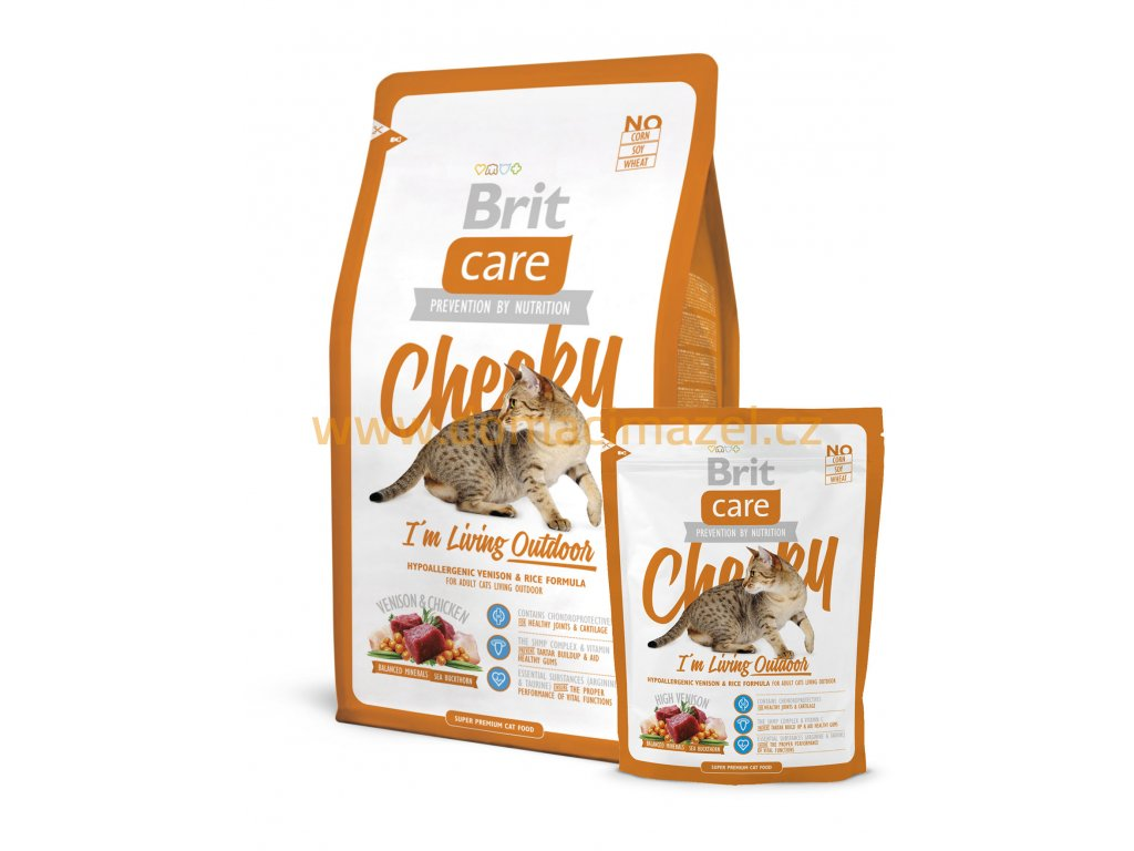brit care cat cheeky i m living outdoor 2 kg
