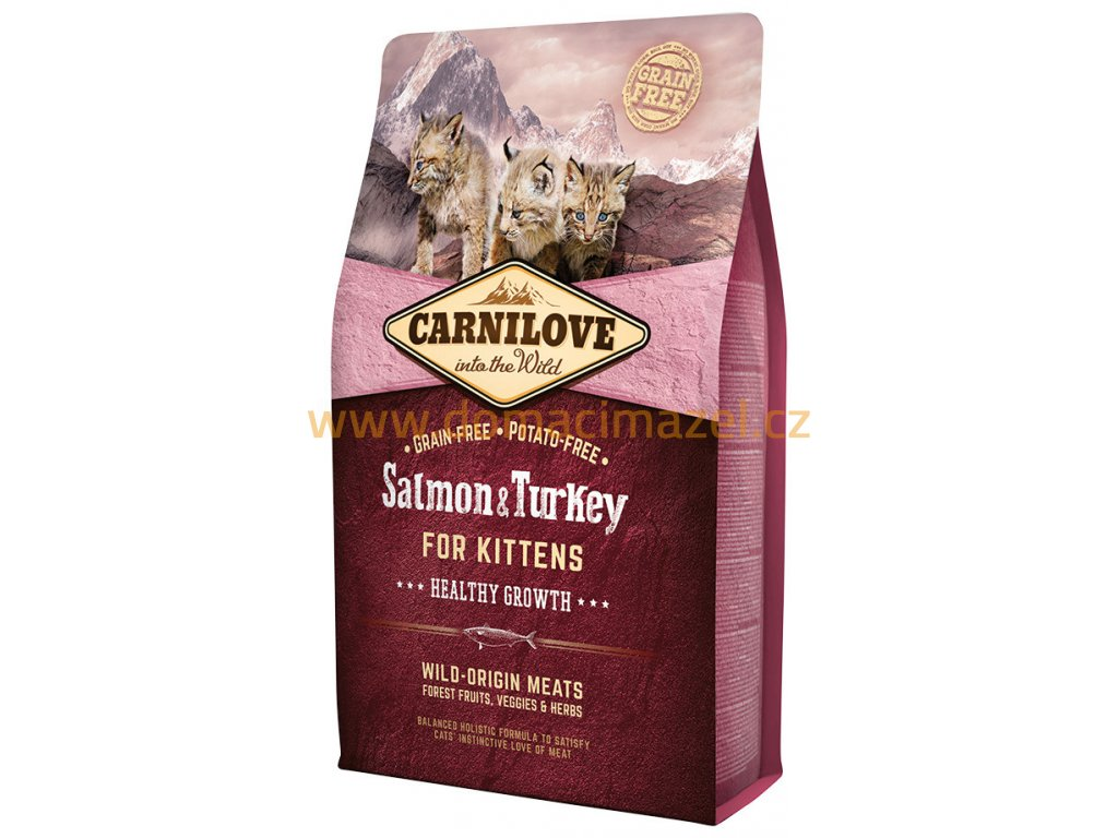 carnilove salmon turkey kittens 6 kg