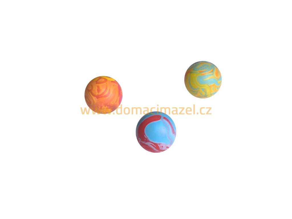 Gumový míček (průměr 6 cm)   DomaciMazel.cz, chovatelské potřeby Hlučín