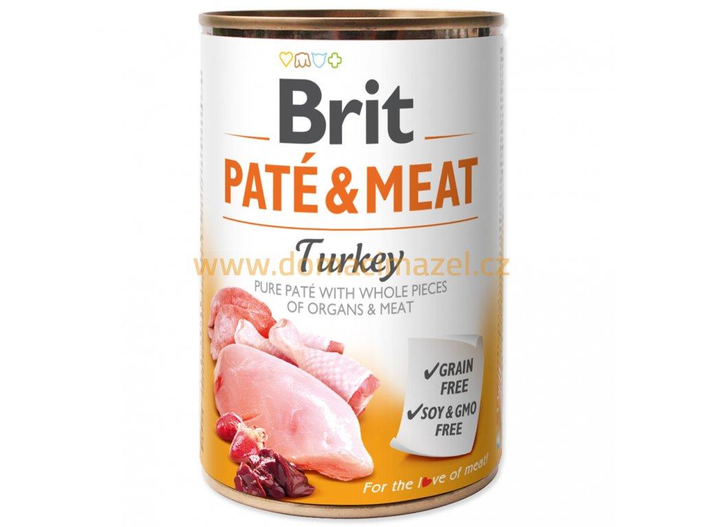 brit pate meat turkey 400g 2056