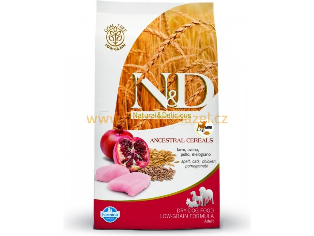 N&D Low Grain Dog Adult Mini Chicken & Pomegranate