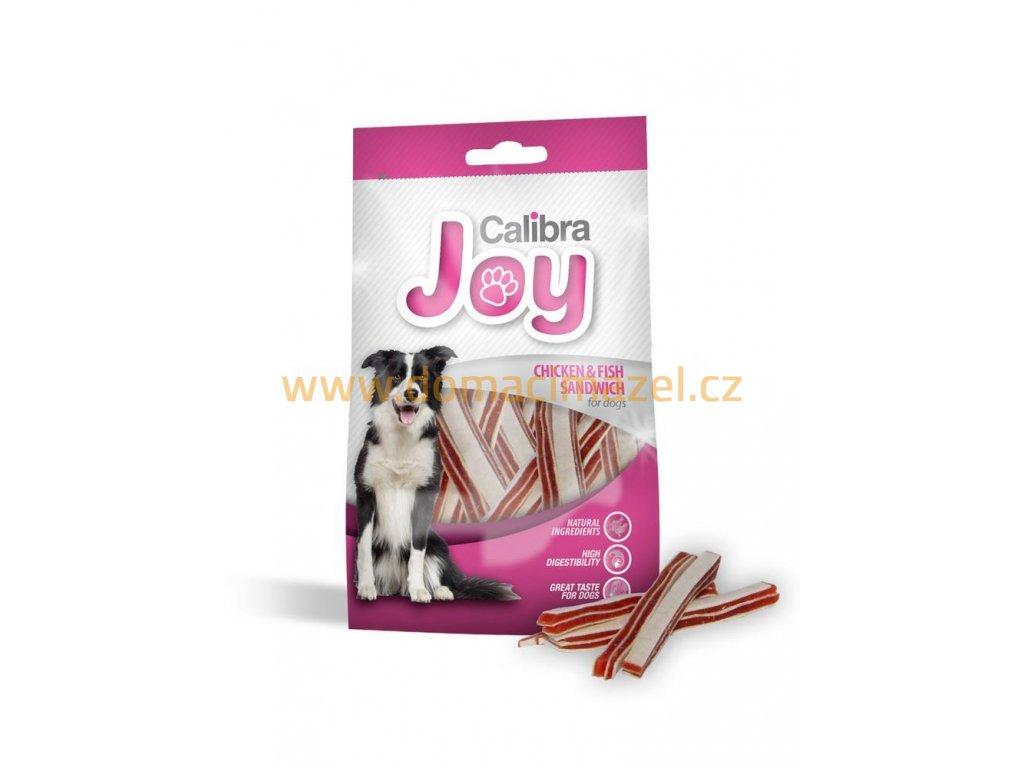 10985 calibra joy dog chicken fish sandwich 80g