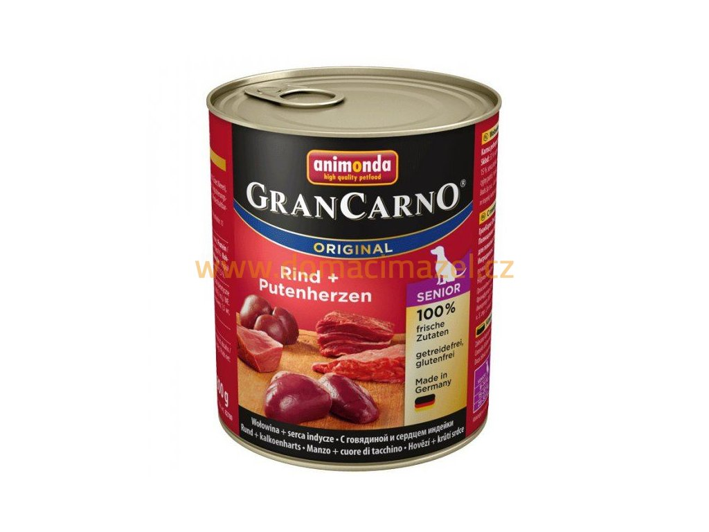grancarno senior s kuretem kruti srdce 800 g