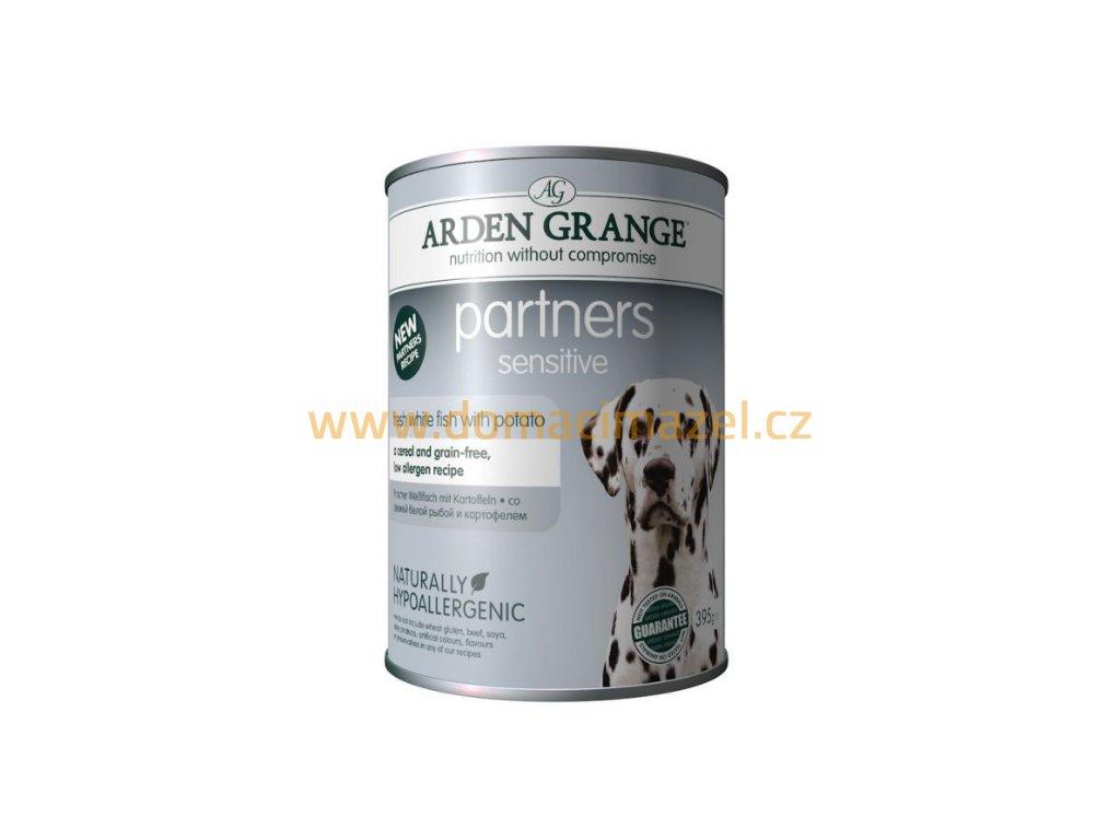 Arden Grange Partners fresh Sensitive s bílou rybou 395 g