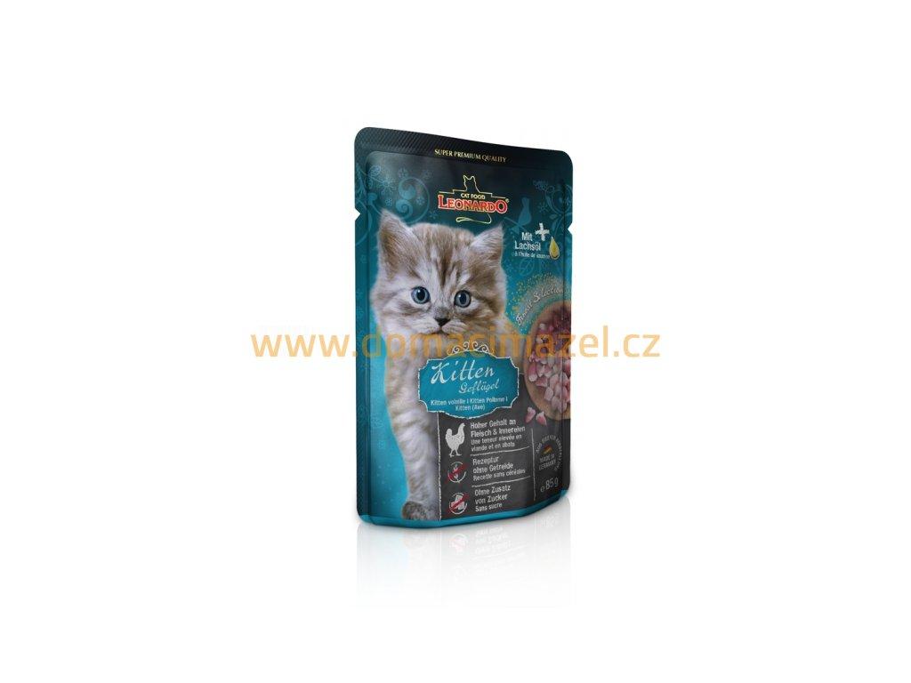 Leonardo Kitten - Kapsička s drůbežím masem 85 g