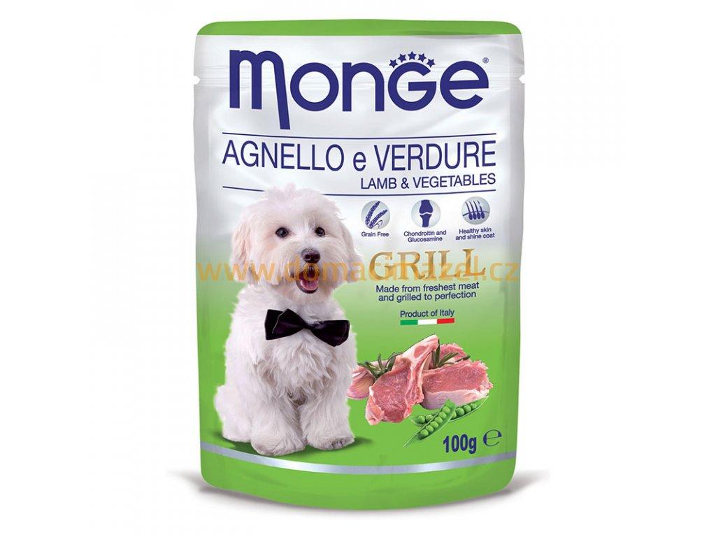 Monge grill kapsička s jehněčím masem a zeleninou – 100g