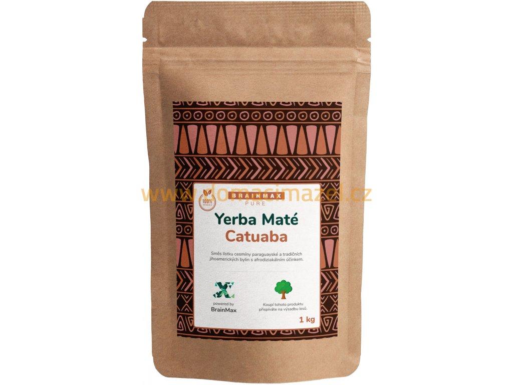 BrainMax Pure Organic Yerba Maté - Catuaba, 1000 g