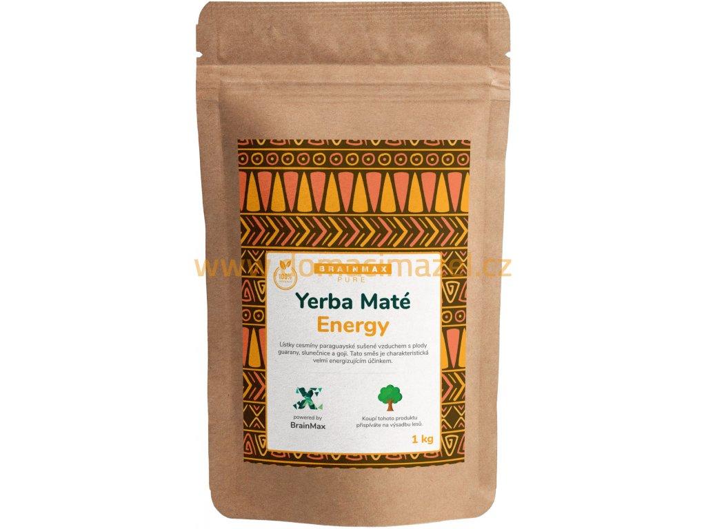 BrainMax Pure Organic Yerba Maté - Energy, 1000 g