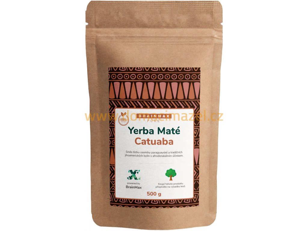 BrainMax Pure Organic Yerba Maté - Catuaba, 500 g