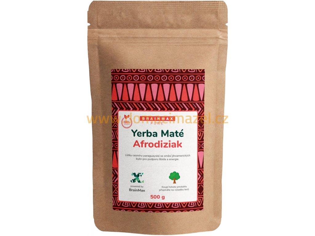 BrainMax Pure Organic Yerba Maté - Afrodiziak, 500 g