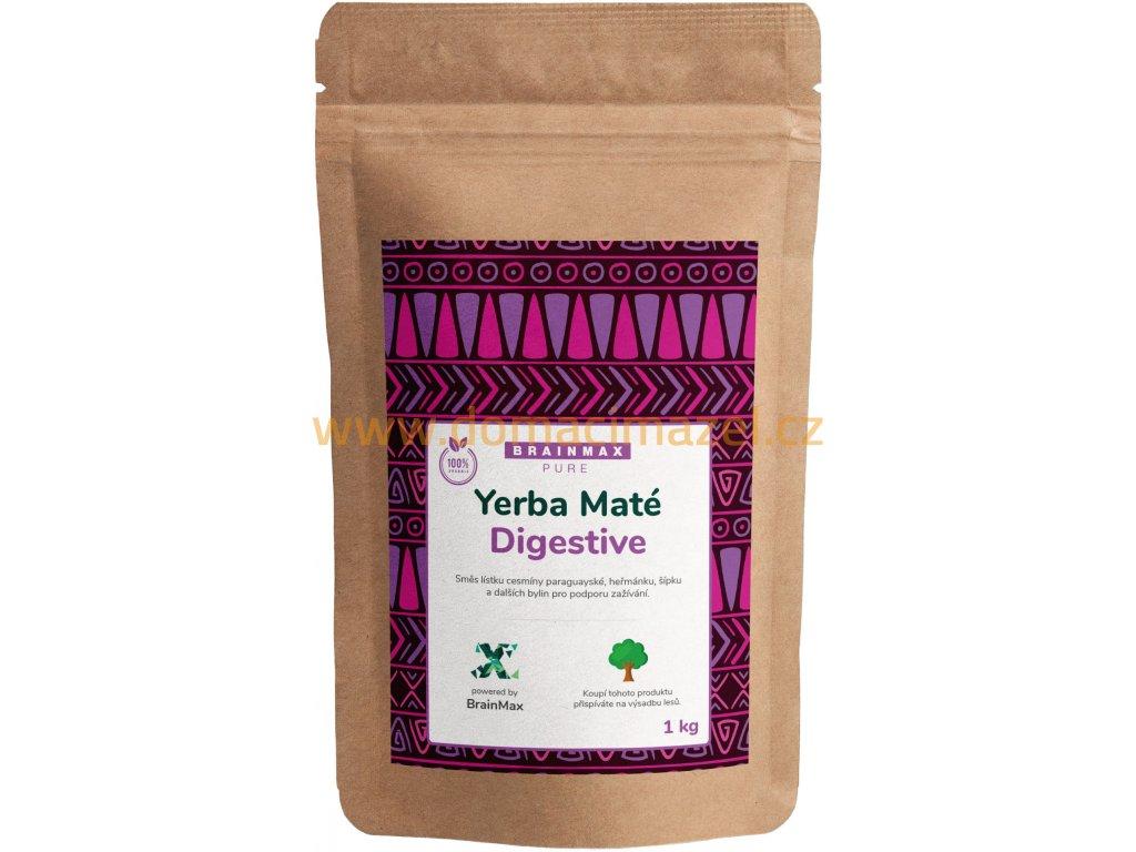 BrainMax Pure Organic Yerba Maté - Digestive, 1000 g