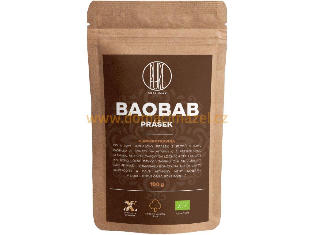 BrainMax Pure Baobab BIO prášek, 100 g