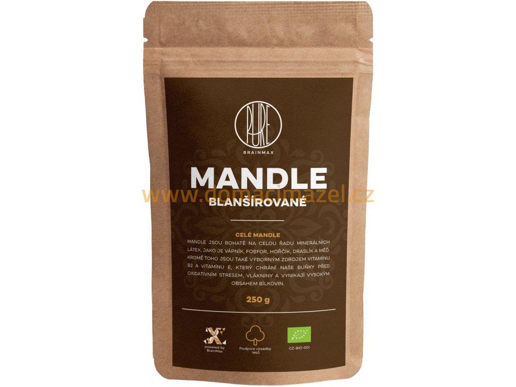 BrainMax Pure Mandle blanšírované BIO, 250 g