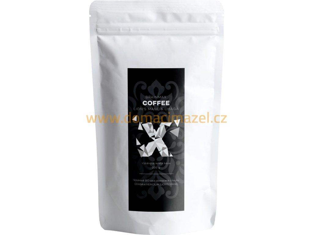 BrainMax Coffee - BIO Káva s medicinálními houbami - Lion's Mane & Chaga, 200g