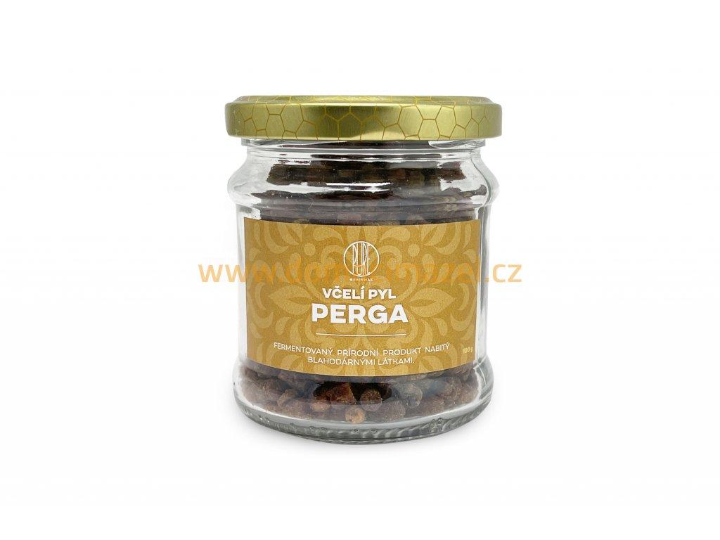 BrainMax Pure Včelí pyl PERGA, 100 g - sklenice