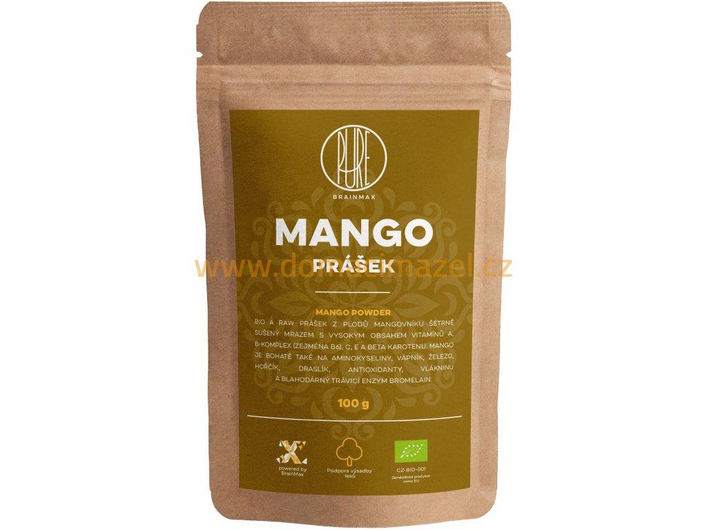 BrainMax Pure Mango BIO prášek, 100 g