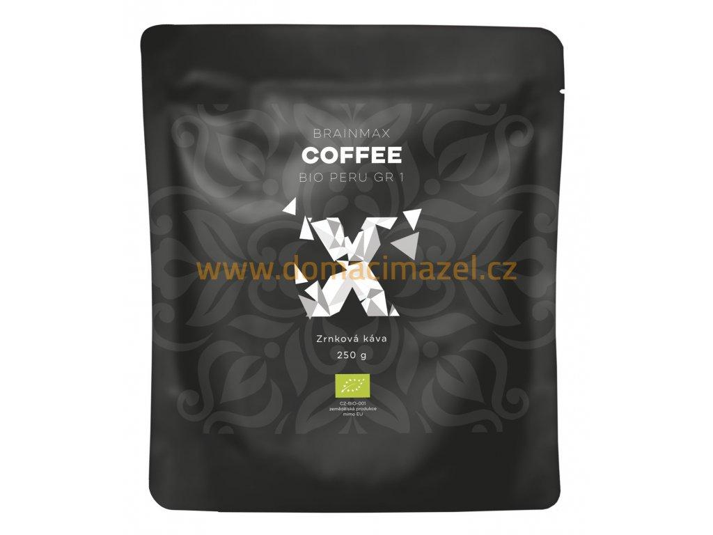 BrainMax Coffee - Káva Peru Grade 1 BIO, 250g - Zrno