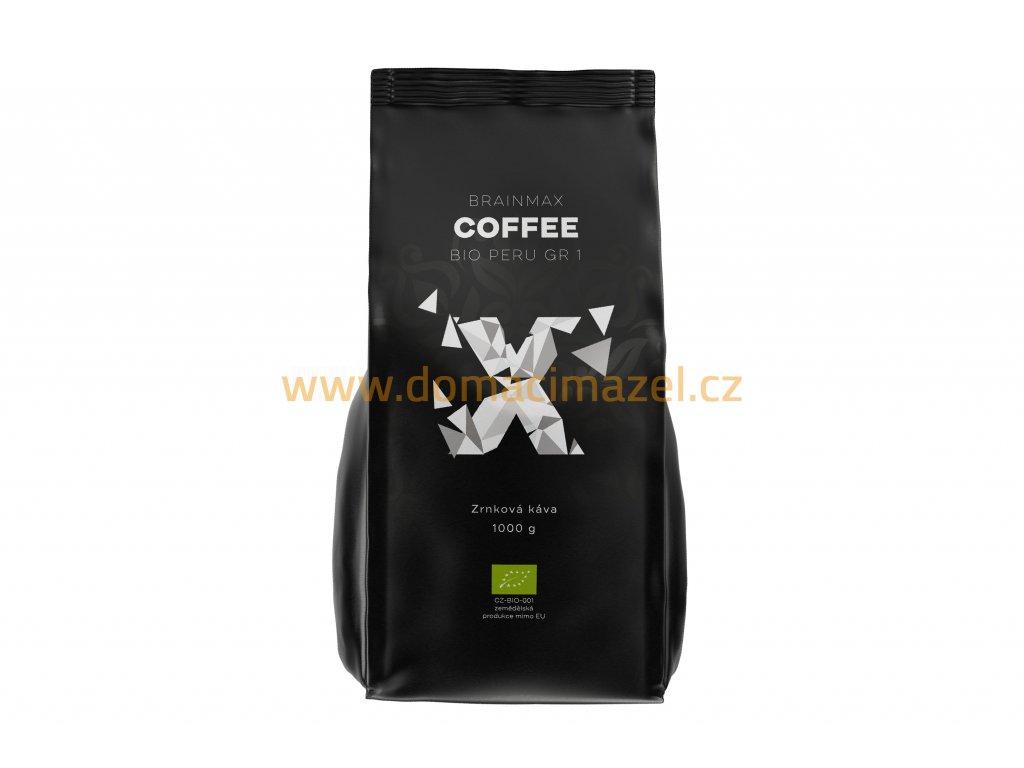 BrainMax Coffee - Káva Peru Grade 1 BIO, 1kg - Zrno