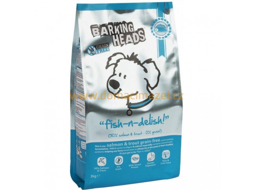 barking heads fish delish