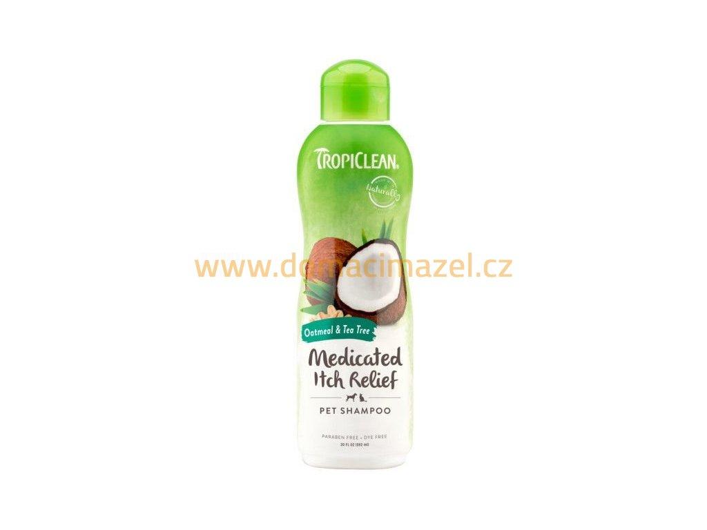 Tropiclean přírodní šampon Oatmeal - uklidňující 592ml
