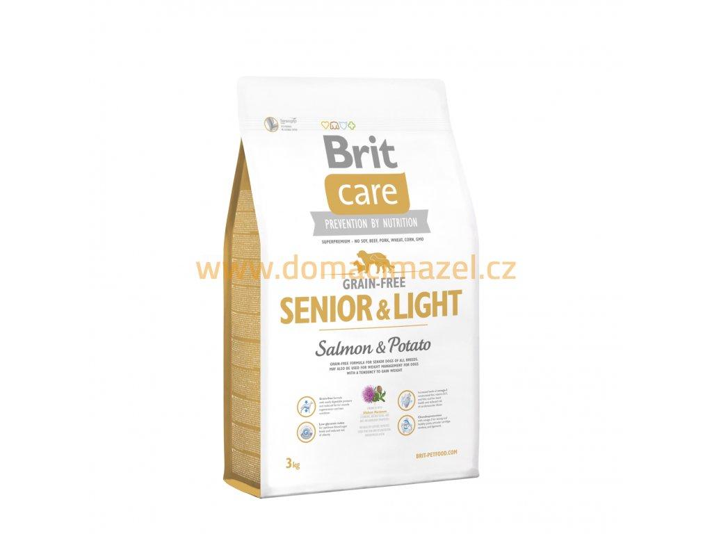 Brit Care Grain-free Senior&Light Losos & Brambor – 3 kg