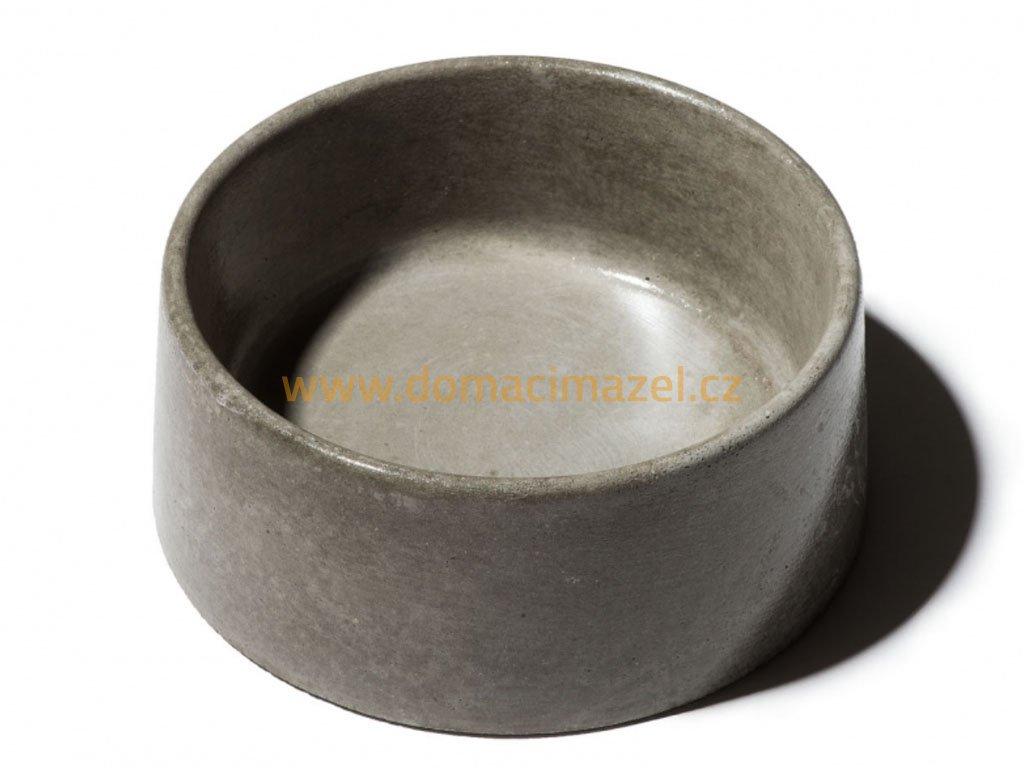 betonova miska pro psy s glazurovanym povrchem 1 3l seda domaci mazel chovatelske potreby hlucin
