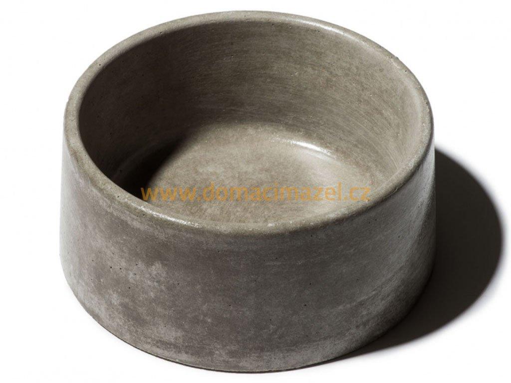betonova miska pro psy s glazurovanym povrchem 2 6l seda domaci mazel