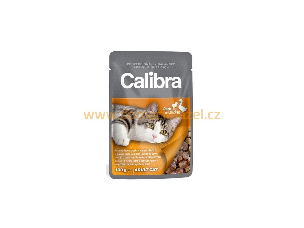 calibra cat 100g kapsa kachni a kureci kousky v omacce