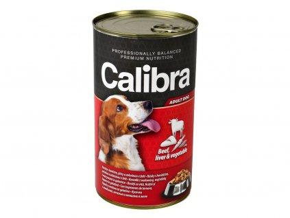 Calibra Dog hovězí + játra + zelenina v želé 1240 g