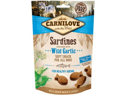 carnilove snacks dog sardines and wildgarlic 200g