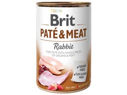 konzerva brit pate meat rabbit 400g default